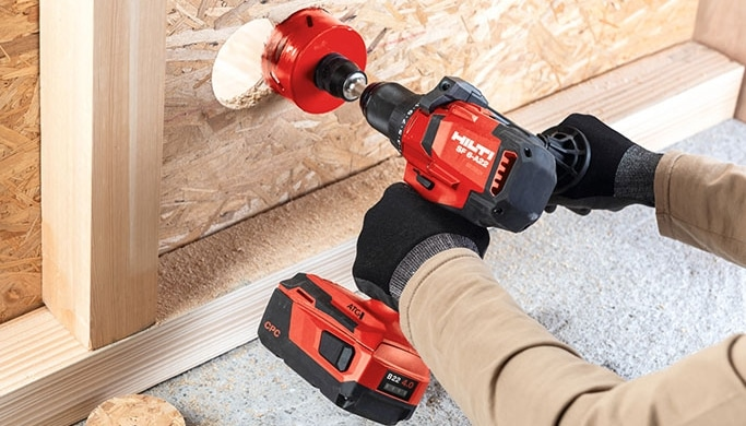 Hilti's B22 4.0 and 8.0 batteries are lighter and more compact