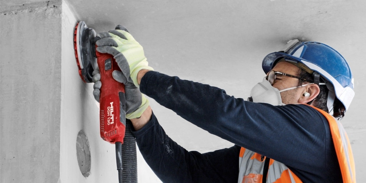 Hilti DGH 130 diamond grinder for walls